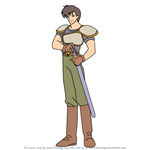 How to Draw Dalvin from Fire Emblem