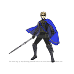 How to Draw Dimitri from Fire Emblem