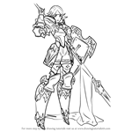 How to Draw Gwendolyn from Fire Emblem