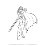 How to Draw Lucina from Fire Emblem