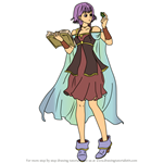 How to Draw Lute from Fire Emblem