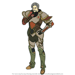 How to Draw Mycen from Fire Emblem