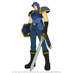 How to Draw Samson (Shadow Dragon and the Blade of Light) from Fire Emblem