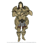 How to Draw Valbar from Fire Emblem