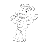 How to Draw Withered Freddy from Five Nights at Freddy's