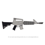 How to Draw Assault Rifle from Fortnite