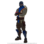 How to Draw Blue Squire from Fortnite