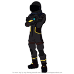 How to Draw Dark Voyager from Fortnite