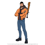 How to Draw Maverick from Fortnite