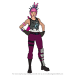 How to Draw Power Chord from Fortnite