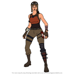 How to Draw Renegade Raider from Fortnite