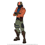 How to Draw Rust Lord from Fortnite