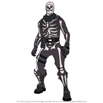 How to Draw Skull Trooper from Fortnite
