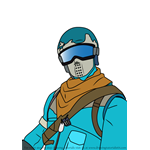 How to Draw Snow Stalker Jonesy from Fortnite