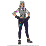 How to Draw Teknique from Fortnite