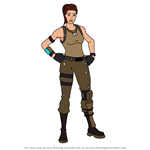 How to Draw Tower Recon Specialist from Fortnite