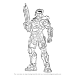 How to Draw Master Chief from Halo