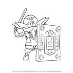 How to Draw Bokoblin Captain from Hyrule Warriors