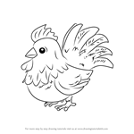 How to Draw Brown Cucco from Hyrule Warriors