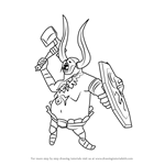 How to Draw Bulblin Captain from Hyrule Warriors