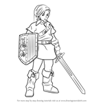 How to Draw Link from Hyrule Warriors