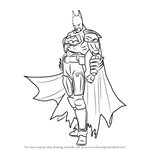 How to Draw Batman from Injustice - Gods Among Us