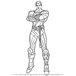 How to Draw Black Adam from Injustice - Gods Among Us
