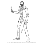 How to Draw The Joker from Injustice - Gods Among Us