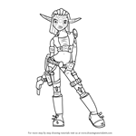 How to Draw Ashelin from Jak and Daxter