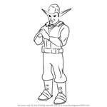 How to Draw Edje from Jak and Daxter