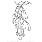 How to Draw Gol Acheron from Jak and Daxter