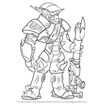 How to Draw The Krimzon Guard from Jak and Daxter