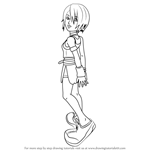 How to Draw Kairi from Kingdom Hearts