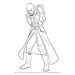 How to Draw Master Xehanort from Kingdom Hearts
