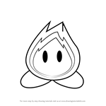 How to Draw Boboo from Kirby