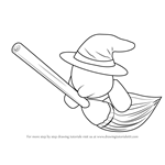 How to Draw Broom Hatter from Kirby