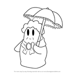 How to Draw Buttercup from Kirby