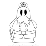 How to Draw Chief Bookem from Kirby