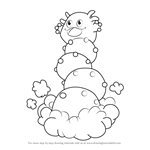 How to Draw Giant Stactus from Kirby
