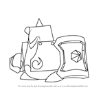 How to Draw Gigant Edge from Kirby