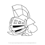 How to Draw Kibble Blade from Kirby
