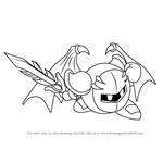 How to Draw Meta Knight from Kirby