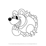 How to Draw Moley from Kirby