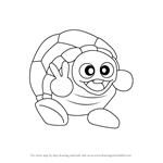 How to Draw Rolling Turtle from Kirby