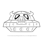 How to Draw Space Oohroo Spaceship from Kirby