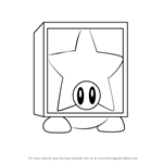 How to Draw Star Block Waddle Dee from Kirby