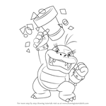 How to Draw Morton Koopa Jr. from Koopalings