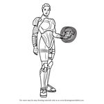 How to Draw Liara T'Soni from Mass Effect