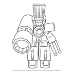 How to Draw Aimflash from Medabots