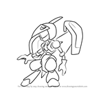 How to Draw Air-Ptera from Medabots